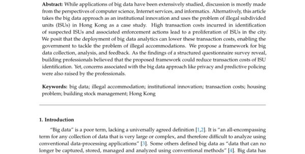 Subdivision Cost Spreadsheet Intended For Pdf Big Data Approach As An Institutional Innovation To Tackle Hong