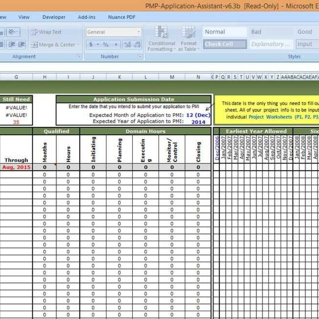 submission tracking spreadsheet