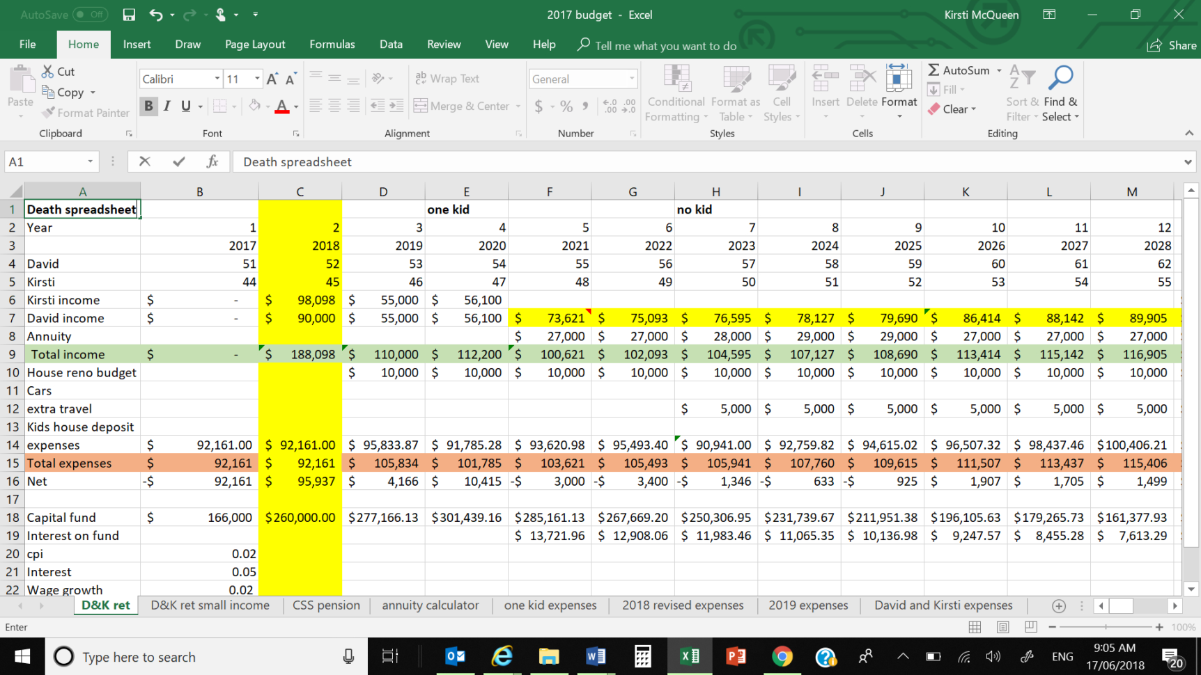 Superannuation Excel Spreadsheet Inside How To Start You Own Death Spreadsheet In Excel – Part 1