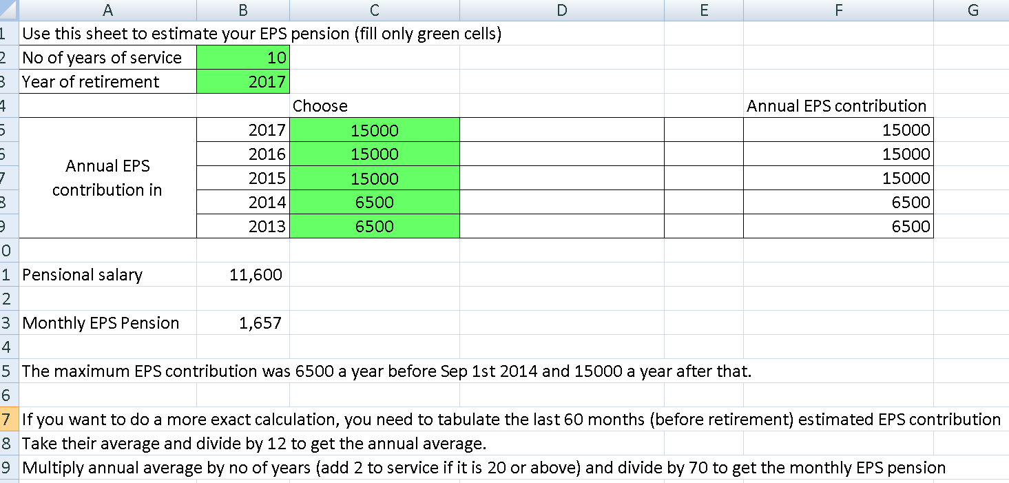 Superannuation Excel Spreadsheet Within Revised Eps Pension Calculator: Find Out Increase In Eps Pension