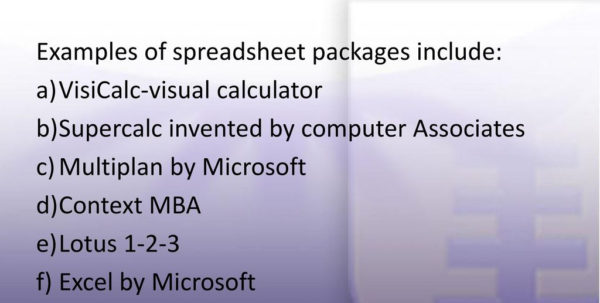 Supercalc Spreadsheet Pertaining To Spreadsheet An Interactive Computer Program Consisting Of Rows And