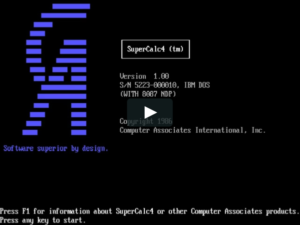 Supercalc Spreadsheet With Supercalc 4 On Vimeo