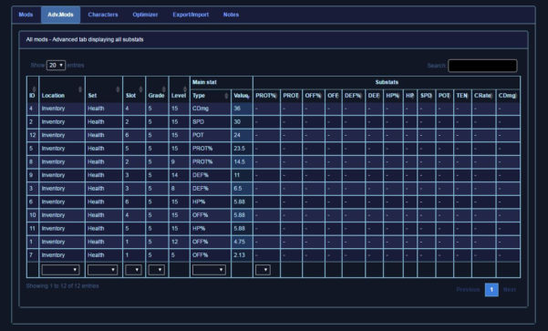 Swgoh Gear Spreadsheet Throughout Open Beta Mod Database  Optimizer   Mod Guide — Star Wars Galaxy