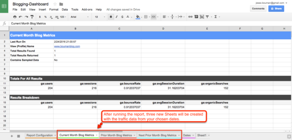 Tab Spreadsheet For How To Create A Custom Business Analytics Dashboard With Google
