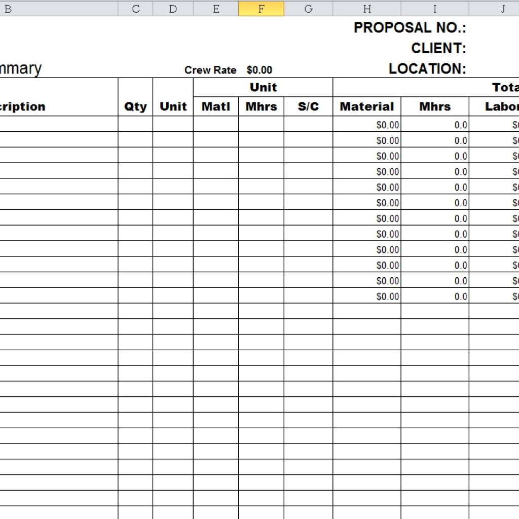 Take Off Spreadsheet Pertaining To Structural Steel Takeoff Spreadsheet With Plus Together As Well