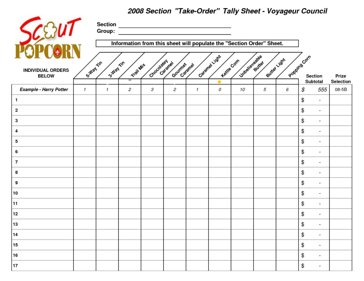 Tally Spreadsheet For Cash Drawer Tally Sheet Template  Glendale Community Document Template