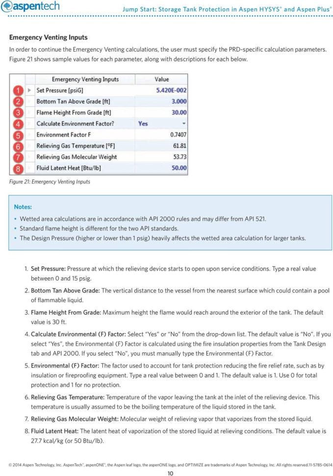 Tank Venting Calculation Spreadsheet Regarding Jump Start: Storage Tank Protection In Aspen Hysys And Aspen Plus  Pdf