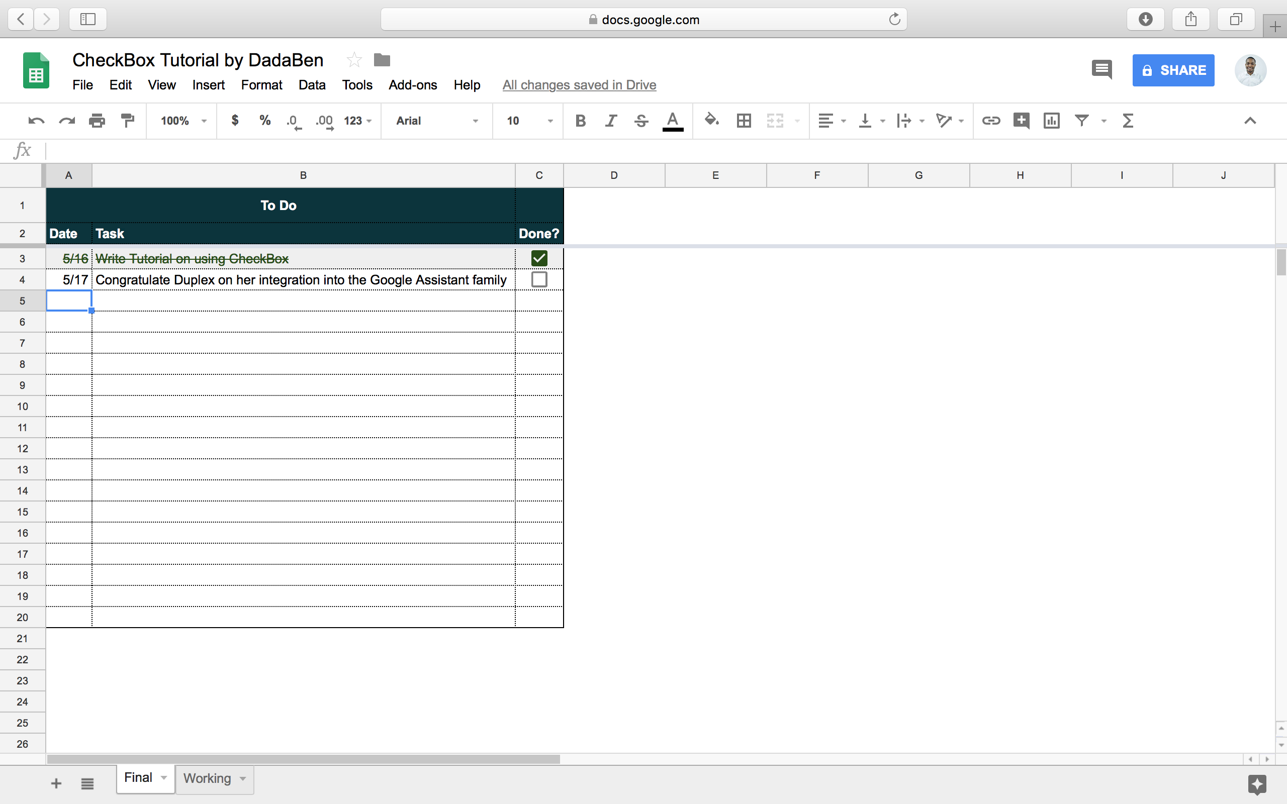 Task List Spreadsheet Inside Tutorial: How To Build Your Own Beautiful Todo List Sheet