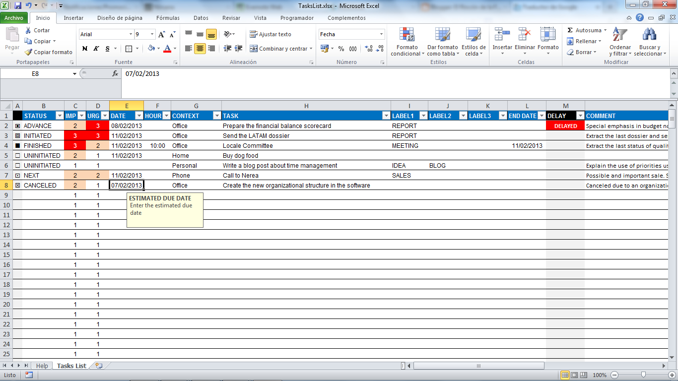 Task Spreadsheet Template Free Regarding Task Manager Spreadsheet Template Tracking Excel Management