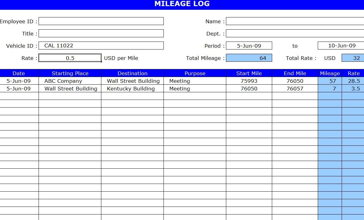 Tax Deduction Spreadsheet Excel Inside 008 Free Mileage Log Template Tax Deduction Spreadsheet Excel