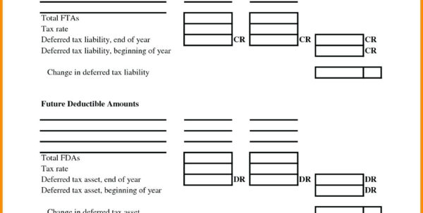 Tax Deduction Spreadsheet Intended For Template: Statement Of Taxable Income Template Tax Deduction