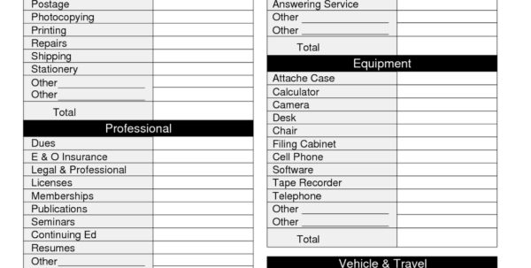 Tax Deduction Tracker Spreadsheet With Donation Spreadsheet For Taxes With Checklist Plus Mileage Google