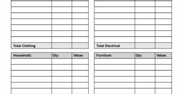 Tax Donation Spreadsheet Pertaining To Irs Donation Values Spreadsheet Donation Spreadsheet