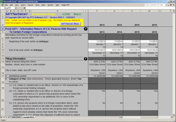 Tax Preparation Excel Spreadsheet With Practical Tax Solutions: Tax Software For Irs Form 5471
