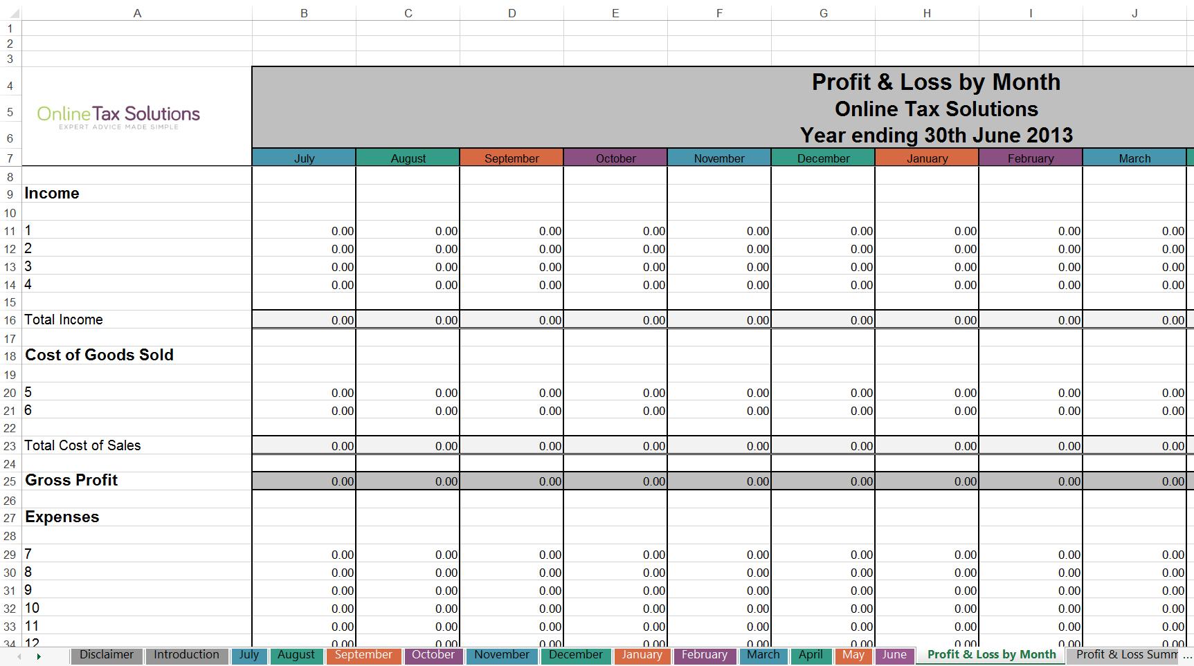 Tax Return Spreadsheet Australia For Free Cashbook Online Tax Solutions