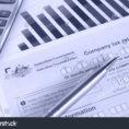 Tax Return Spreadsheet Australia In Australian Annual Company Tax Return Spreadsheet Stock Photo Edit