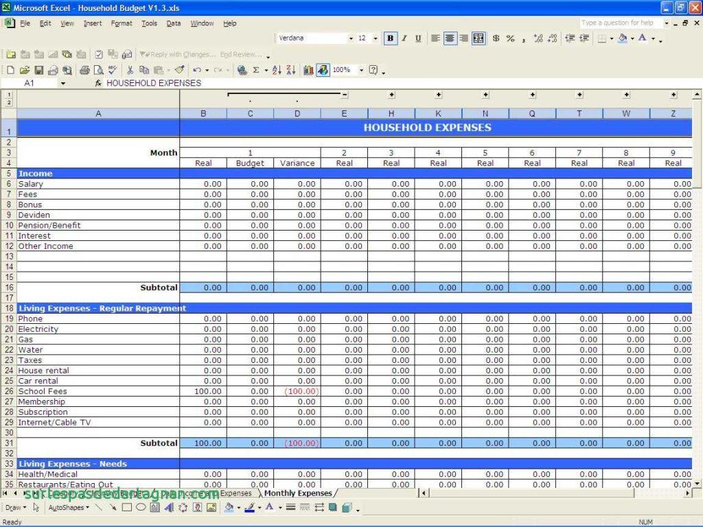 Tax Return Spreadsheet Pertaining To Self Employed Expense Sheet Tax Return Balance Income Expenses