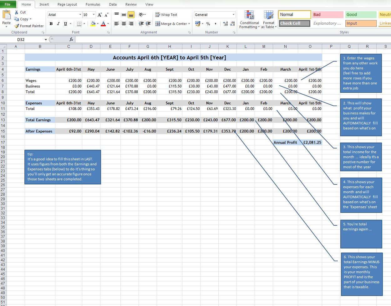 Tax Return Spreadsheet Within Tax Returns For Super Small Creative Businesses [Part Two]  Becca