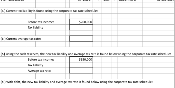 Tax Spreadsheet Throughout Solved: Spreadsheet Exercise Hemingway Corporation Is Cons