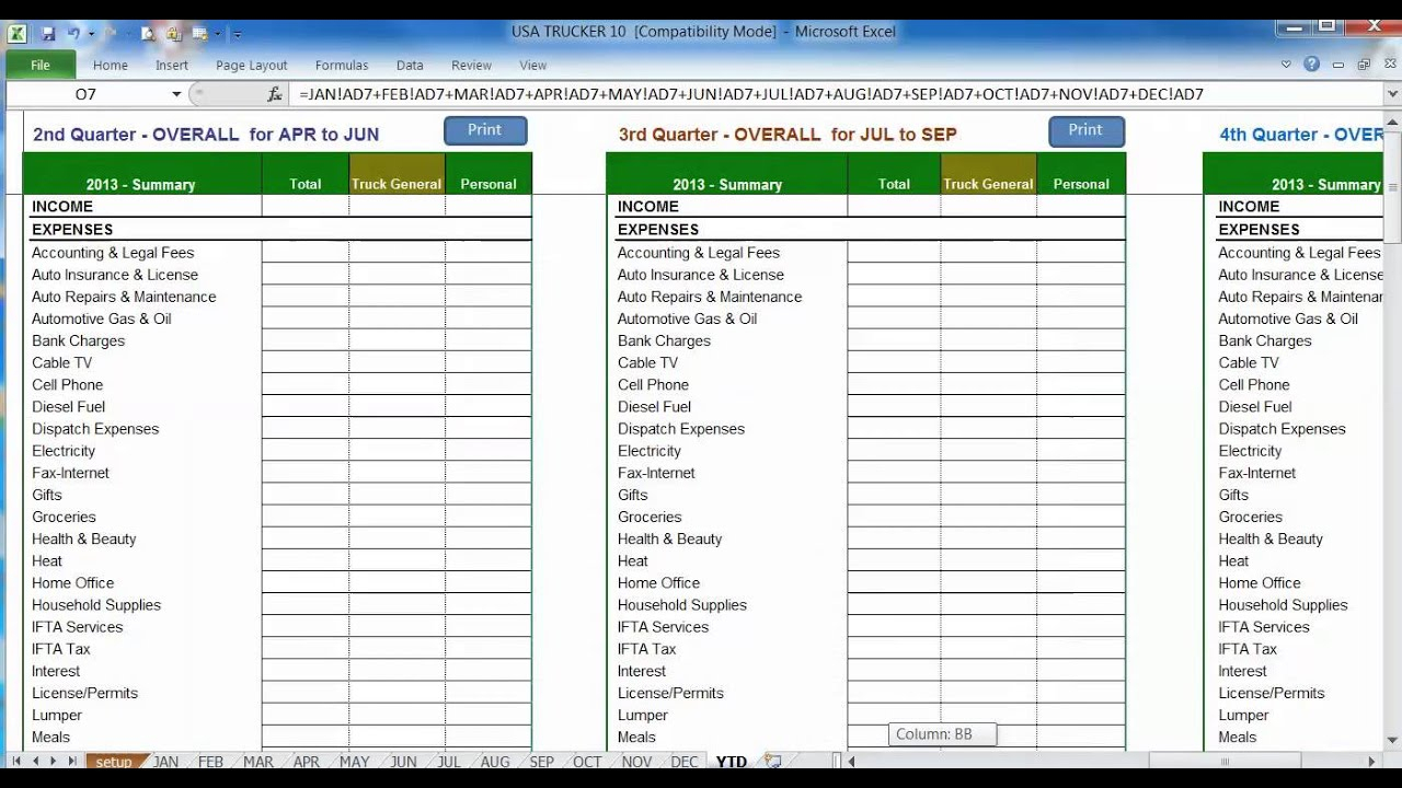 Taxi Driver Accounts Spreadsheet Throughout Truck Driver Accounting Spreadsheet 2018 How To Make An Excel