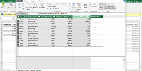 Teach Yourself Excel Spreadsheets With Regard To Create Calculated Columns In Power Pivot In Excel 2016