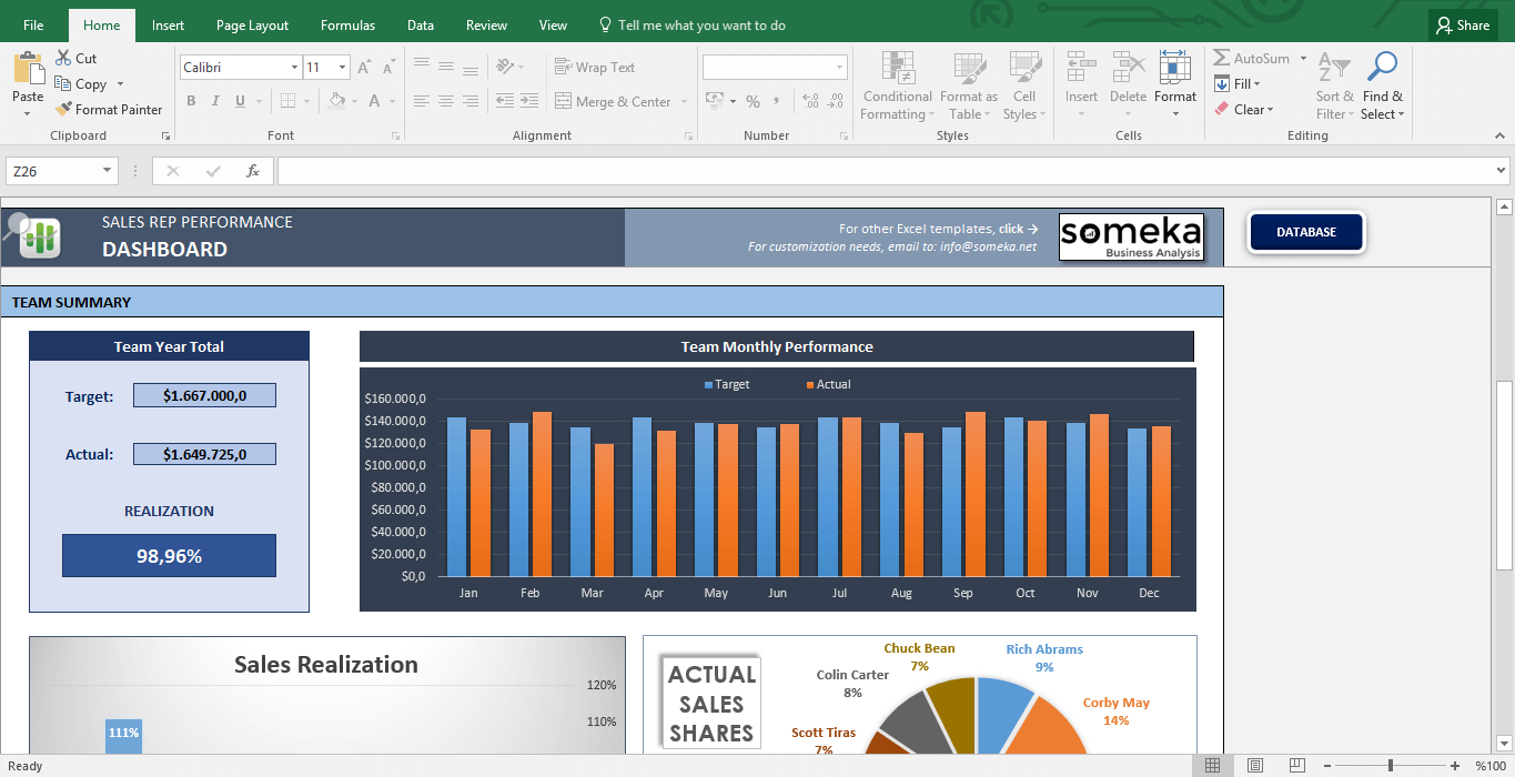 Team Tracking Spreadsheet For Salesman Performance Tracking  Excel Spreadsheet Template