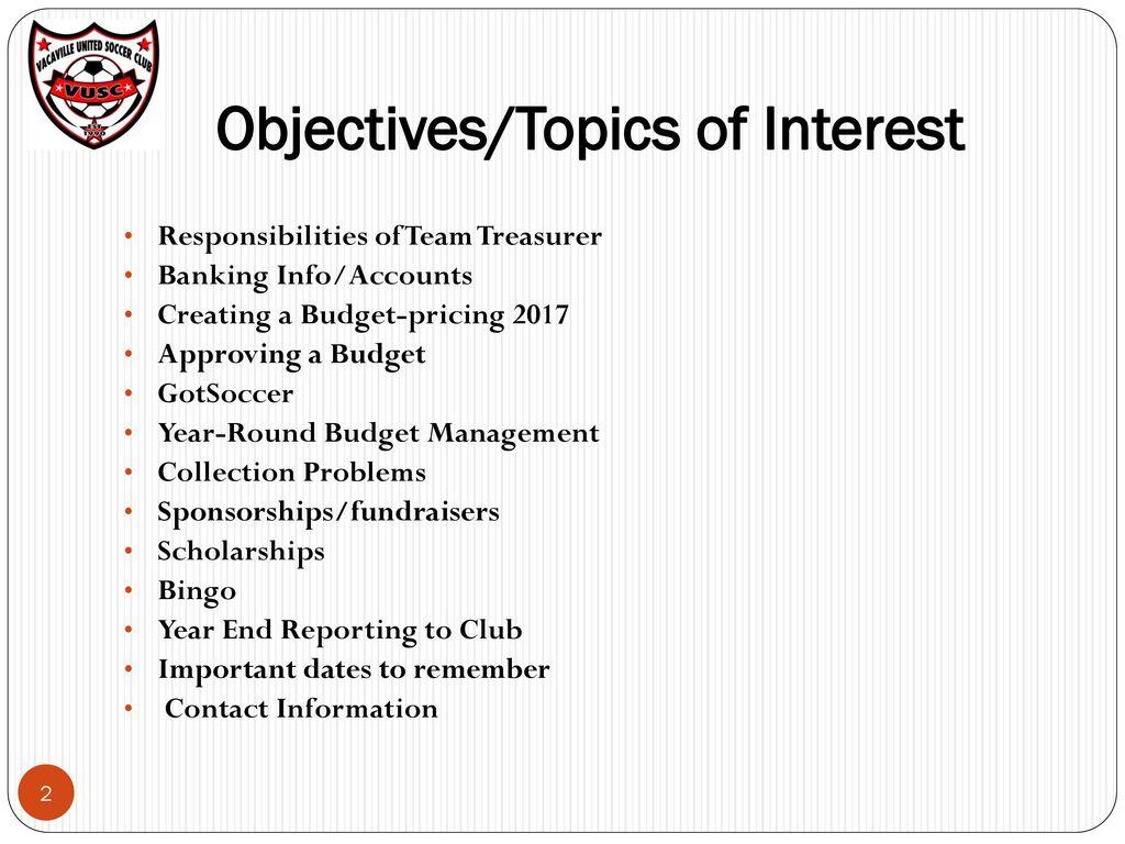 Team Treasurer Spreadsheet Intended For Vacaville United Soccer Club Team Treasurer Packet  Ppt Download