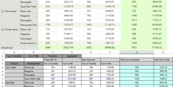 Telerik Spreadsheet In Spread Export  Radpivotgrid  Telerik Ui For Winforms