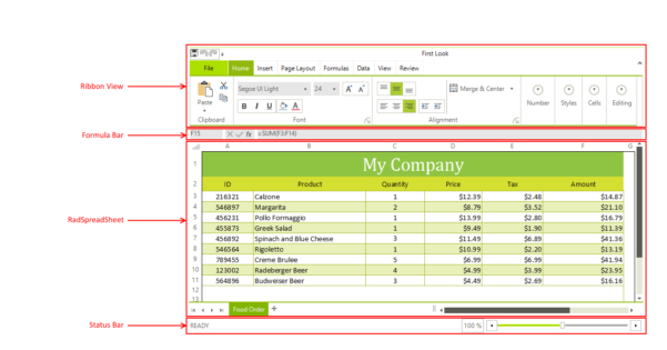 Telerik Web Spreadsheet For Visual Structure  Radspreadsheet  Telerik Ui For Winforms