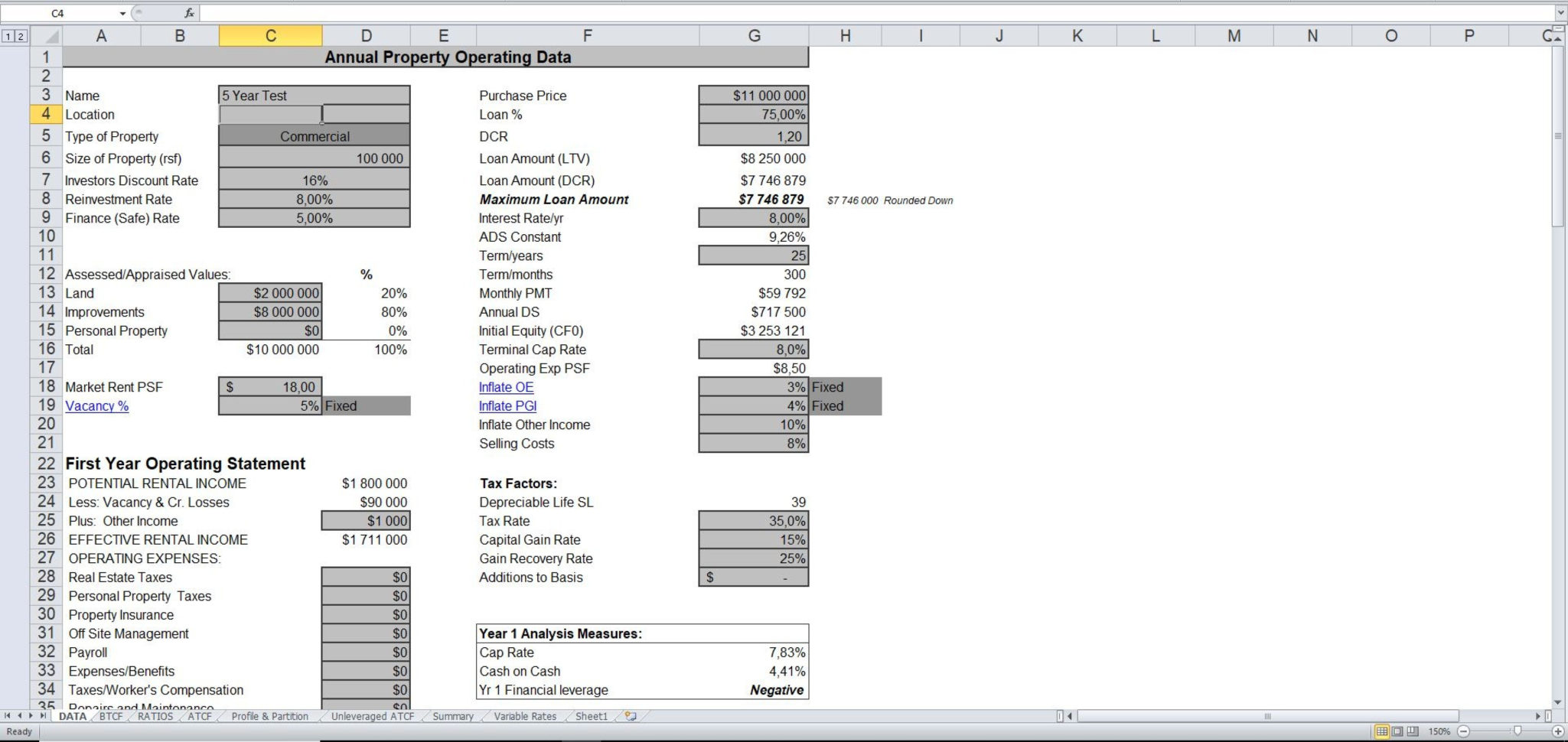 Tenant Spreadsheet Excel Template In Real Estate Proforma Excel Template  Eloquens