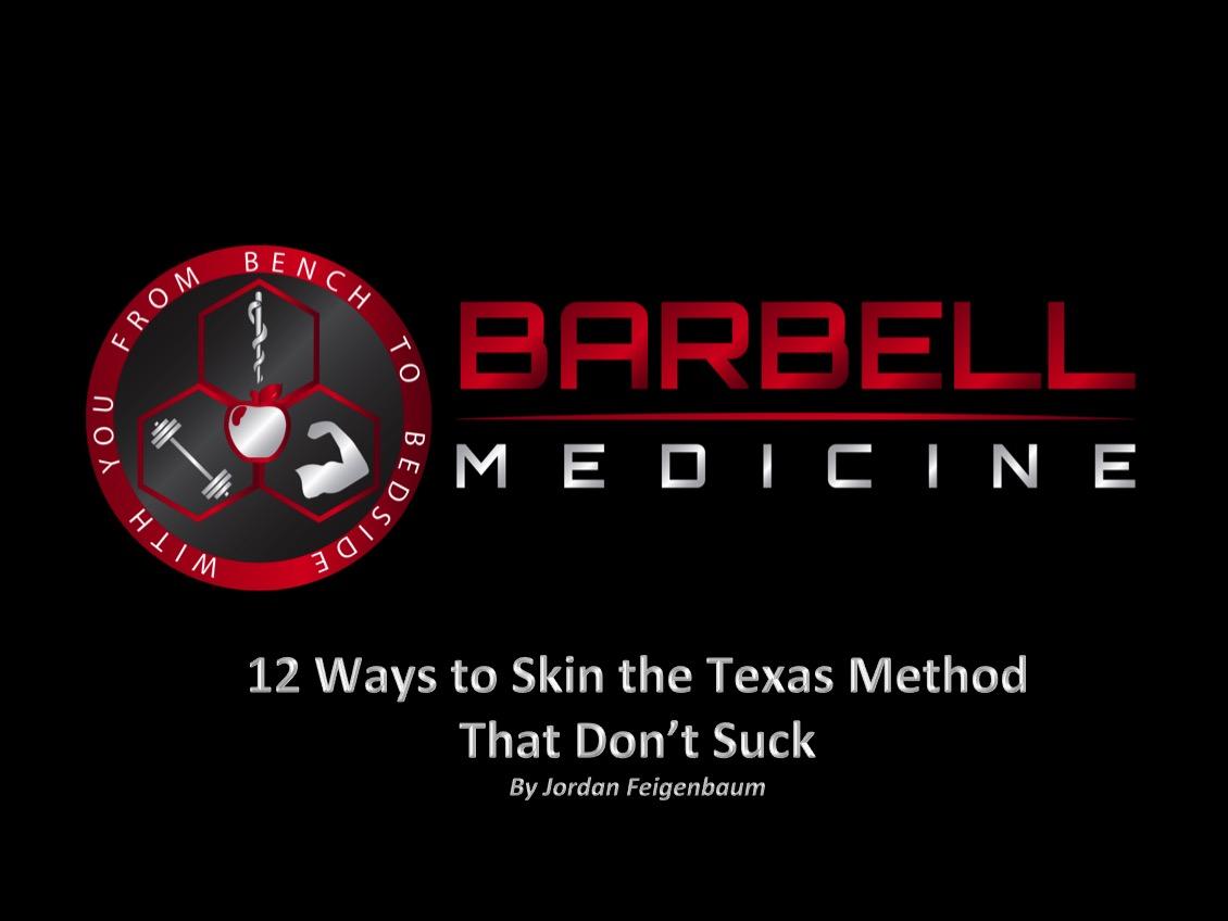 Texas Method Powerlifting Spreadsheet Regarding 12 Ways To Skin The Texas Method  Barbell Medicine