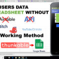 The Spreadsheet Store Intended For Solved ] Store Users Data To Spreadsheet Without Using Cloudstitch