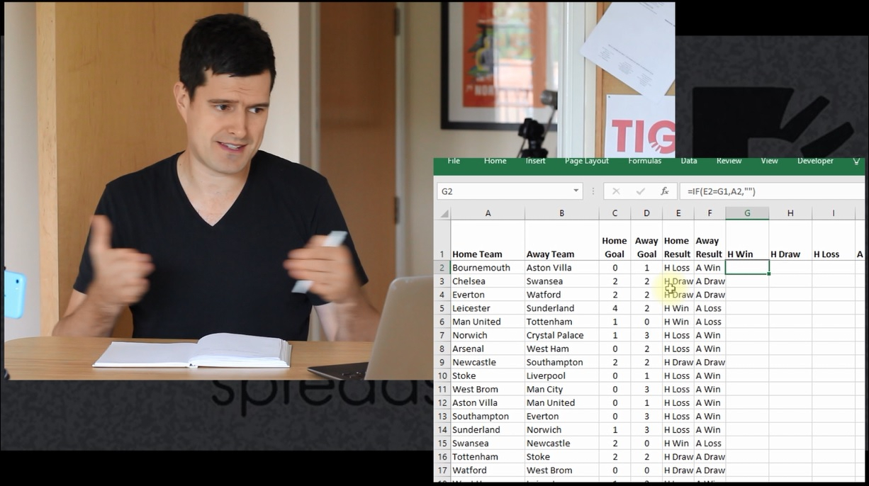 Tiger Spreadsheet Solutions Regarding How To Collate Sports Fixtures Results Into A League Table In Excel