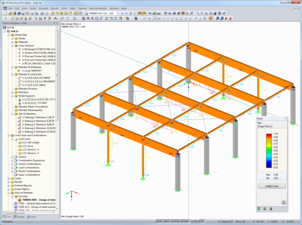 Timber Beam Design Spreadsheet Intended For American Standards Aisc, Aci, Awc, Adm, Asce 7, Ibc  Dlubal Software