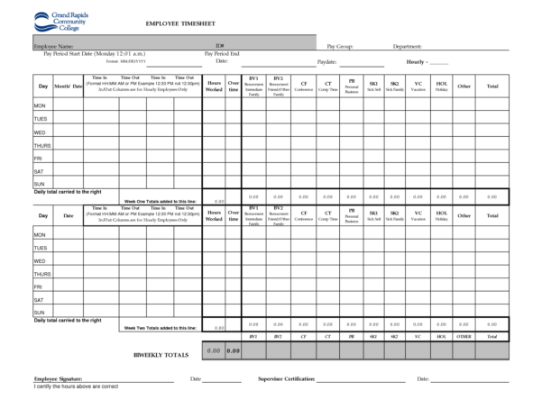 Time Card Spreadsheet Template Free Intended For Weekly Timesheet Spreadsheet Best Of 55 Templates Free  Form