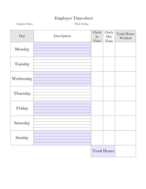 Time Card Spreadsheet Throughout Time Tracking Spreadsheet And Printable Weekly Time Sheet Printable