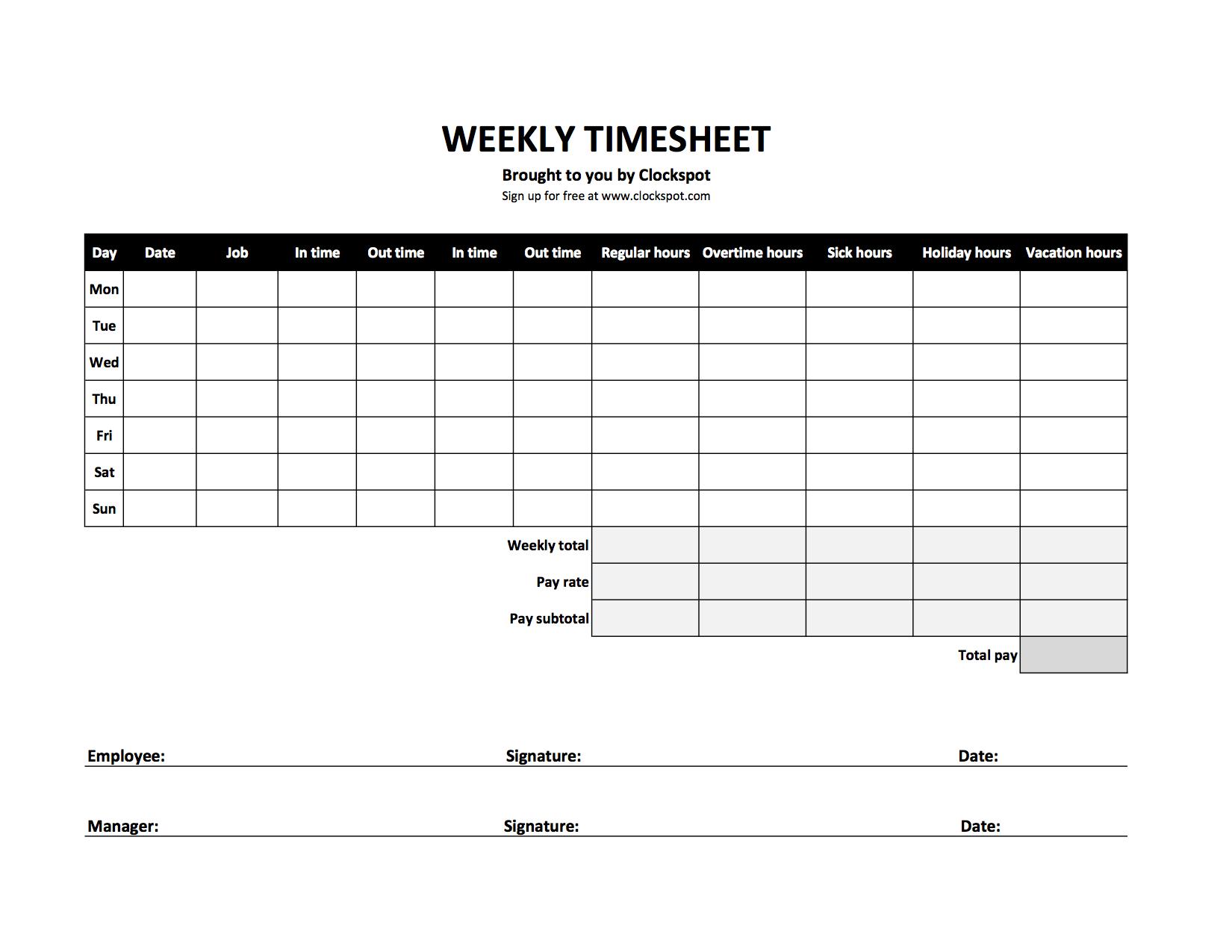 Time Clock Spreadsheet Free Download Inside Time Clock Spreadsheet Template Calculator Free Download Sheet