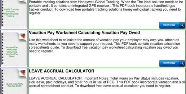 Time In Lieu Tracking Spreadsheet Regarding Vacation And Sick Accrual Tracking Spreadsheet Template  Pdf