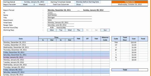 Time Keeping Spreadsheet In Time Management Spreadsheet Employee Template Project Timesheet