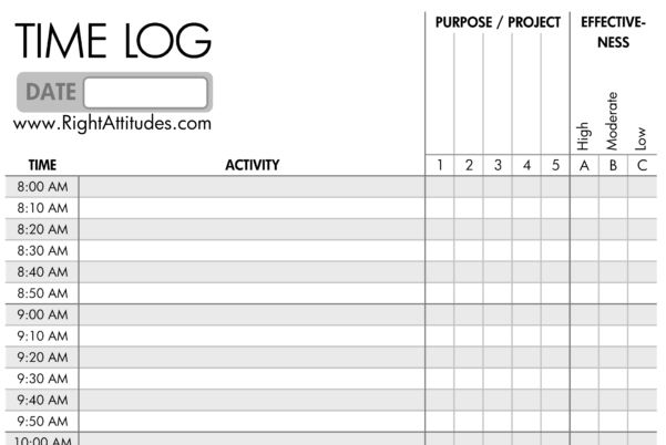 Time Log Spreadsheet For Time Management #2] Time Logging: Log Where Your Time Actually Goes