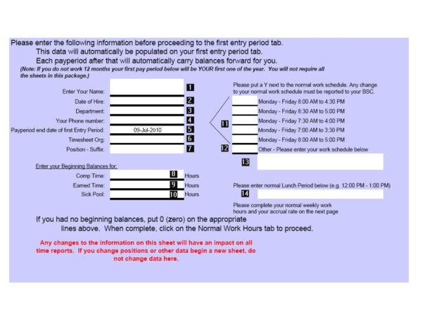 Time Recording Spreadsheet With Regard To Instructions For Time Recording Excel Spreadsheets  Unh Human