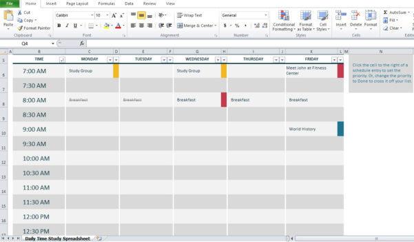 Time Study Spreadsheet In Professional Daily Time Study Spreadsheet Excel  Excel Tmp