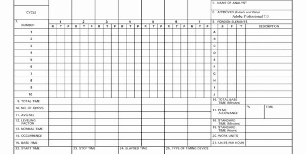 Time Study Spreadsheet With Times Sheet Template 19 Linear Time Study Graphics Sheets Readable