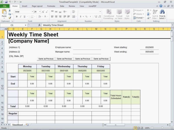 Timesheet Spreadsheet Formula With Excel Timesheet Template With Formulas With Excel Timesheet Template