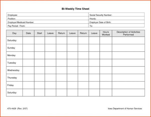 Timesheet Spreadsheet Free In 013 Time Sheet Templates Free Daily Timesheet Template Printable