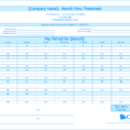 Timesheet Spreadsheet Free Within Free Monthly Timesheet Template  Clicktime