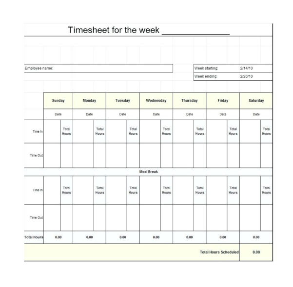 Timesheet Spreadsheet Template Free Within Employee Timesheet Spreadsheet Sample Template Excel Google Sheets