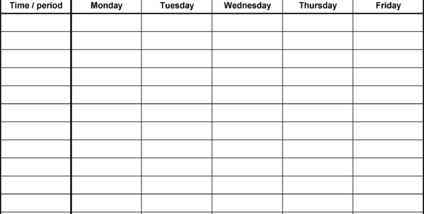 Timetable Spreadsheet Pertaining To Timetables As Free Printable Templates For Microsoft Excel