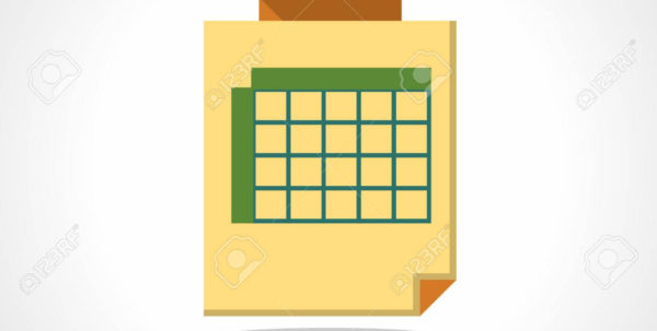 Timetable Spreadsheet Throughout Timetable With Clip. Yellow Sheet With Green Spreadsheet. Business