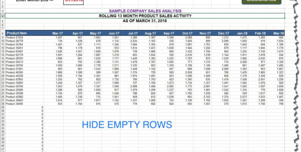 Tip Distribution Spreadsheet Intended For Ms Excel — Hide Rows Based On Cell Value Automation Tip